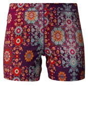 Roxy Spike Sports Shorts Psychedelic Dream Combo Tomato Pink