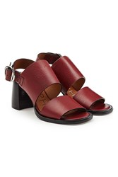 Joseph Stein Leather Sandals Red