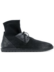 Marsell Sock Lace Up Shoes Leather Rubber Black