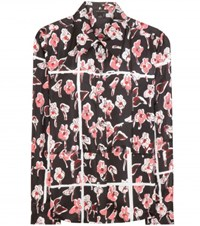 Marc Jacobs Printed Silk Blouse Black