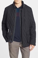 Ted Baker 'Garyen' Diamond Quilted Jacket With Herringbone Liner Black