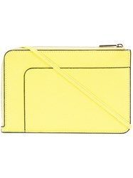 Valextra Neon Zipped Crossbody Bag Yellow