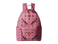Mcm Stark M Stud Small Backpack Pink Backpack Bags