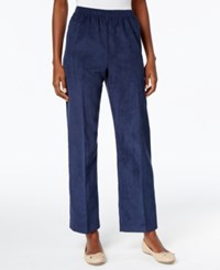 Alfred Dunner Pull On Corduroy Pants Navy