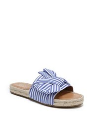 Franco Sarto Phantom Striped Knot Espadrilles White Blue
