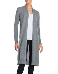 Lord And Taylor Open Front Cashmere Duster Pewter Heather