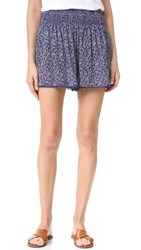 Rebecca Taylor Woodblock Shorts Ink Blue