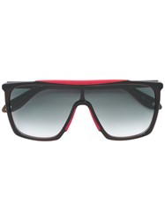 Givenchy Oversized Contrast Trim Sunglasses Black