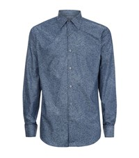 Tiger Of Sweden Farrell Slim Fit Embroidered Shirt Male Blue