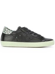Philippe Model Leopard Print Detail Sneakers Black