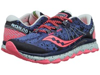 Saucony Nomad Tr Blue Navy Coral Women's Running Shoes Purple