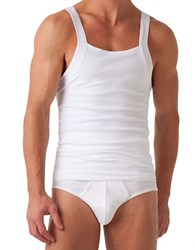 2Xist Fitted Square Neck Tank White