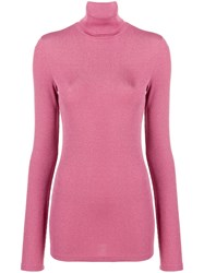Dondup Turtleneck Sweater Pink And Purple