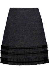 Raoul Metallic Tweed Mini Skirt Black