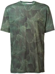 Baja East Palm Print T Shirt Green