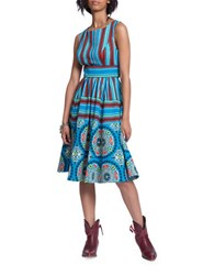 Plenty By Tracy Reese Printed Sleeveless Dress Multicolor