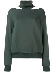 Unravel Project Cut Out Sweatshirt Green