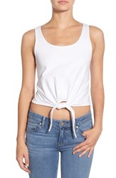 Women's Splendid Knot Front Cotton Crop Top