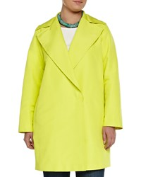 Marina Rinaldi Tabares Double Breasted Faille Overcoat Women's Yellow