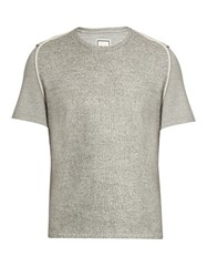 Wooyoungmi Contrast Front T Shirt Grey
