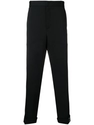 Y Project Pleated Slim Fit Trousers Black