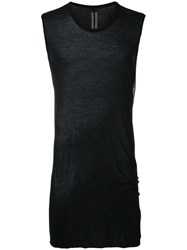 Rick Owens Basic Sleeveless T Shirt Black