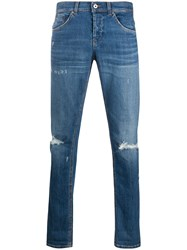 Dondup Skinny Fit Distressed Jeans Blue