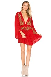 Free People Pretty Pineapple Dress Red