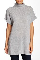 Cullen Rib Detail Cashmere Tunic Sweater Gray