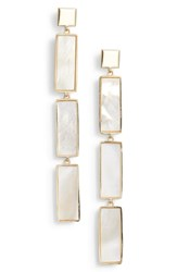Argentovivo Argento Vivo Geometric Mother Of Pearl Drop Earrings Mother Of Pearl Gold
