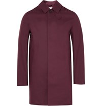 Mackintosh Bonded Cotton Raincoat Burgundy