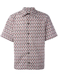 Prada Geometric Print Shortsleeved Shirt