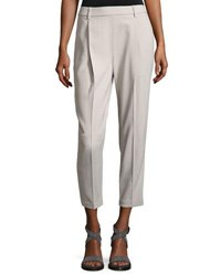 Brunello Cucinelli Wool Blend Slouchy Pull On Pants Blue