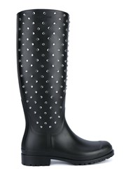 Saint Laurent Crystal Embellished Festival Boots Black