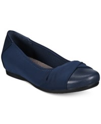Bare Traps Mitsy Hidden Wedge Flats Women's Shoes Navy