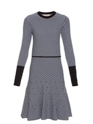 Sportmax Olivia Knitted Dress Blue White