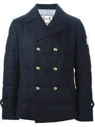 Moncler Gamme Bleu Double Breasted Padded Jacket Blue