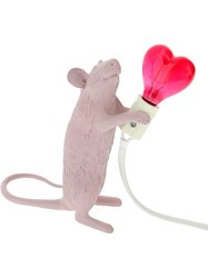 Seletti Valentine's Day Mouse Lamp Love Edition Pink