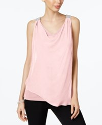 Msk Beaded Sleeveless Blouse Blush