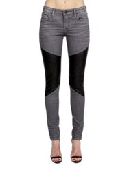 Cult Of Individuality Moto Mid Rise Skinny Fit Jeans Slate