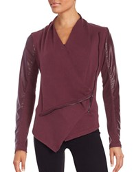 Blank Nyc The Draped Faux Leather Jacket Oxblood