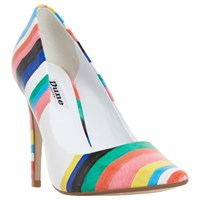 Dune Brazil Striped Court Shoes Multi