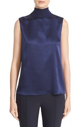 Lafayette 148 New York Women's 'Bonita' Knit Collar Silk Blouse