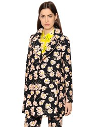 Rochas Magnolia Printed Cotton Duchesse Coat