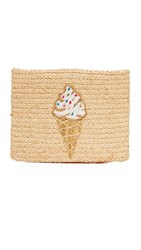 Hat Attack Embroidered Clutch Ice Cream