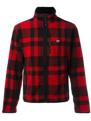 Denim And Supply Ralph Lauren Checked Zip Cardigan Red