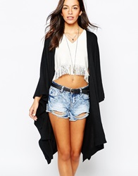 New Look Waterfall Front Cardigan Black