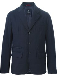 Fay Quilted Blazer Blue