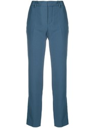 Zadig And Voltaire Contrast Side Panel Trousers Blue