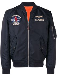 Polo Ralph Lauren Pilot Bomber Jacket Blue